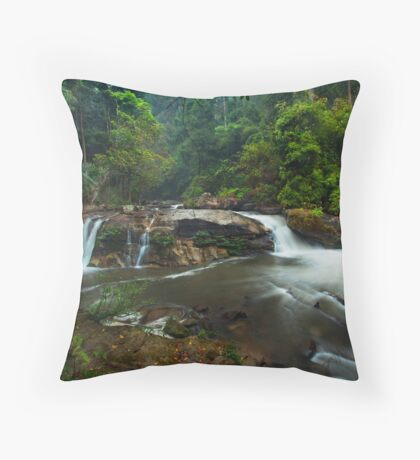 Flowing in the Jungle Throw Pillow