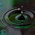 Green Water Drops by Robin Lee