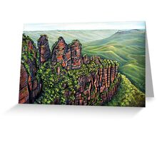 Etched in Time, Blue Mountains Greeting Card