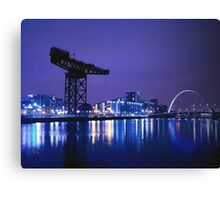 The River Clyde At Night Canvas Print