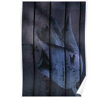 Tulip Behind the Blue Door Poster