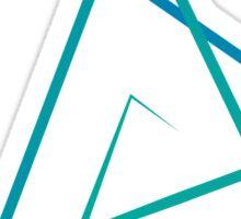 Triangle Line Pattern Sticker