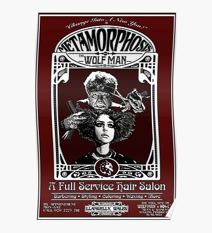 Metamorphosis by The Wolf Man: A Full Service Hair Salon Poster