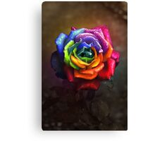 Rainbow Dream Rose Canvas Print