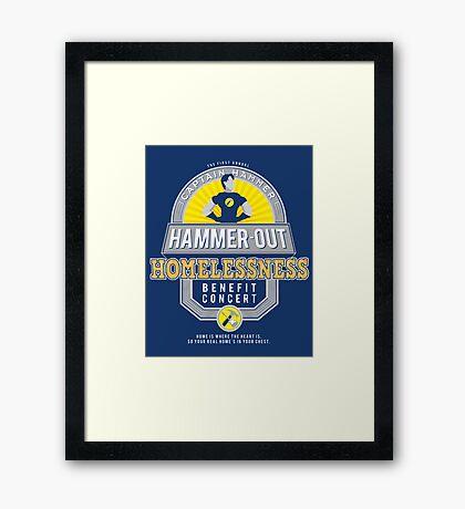 Hammer-Out Homelessness Framed Print
