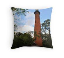 Currituck Lighthouse Throw Pillow