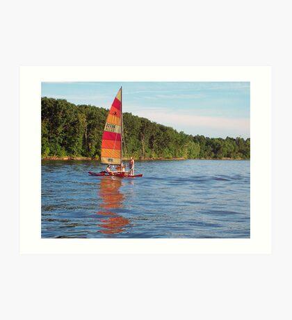 Multi Strip Sail Art Print