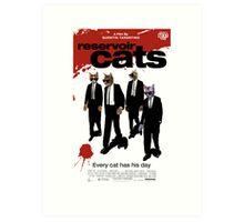 Reservoir Dogs (Cats) Meow Art Print