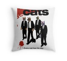Reservoir Dogs (Cats) Meow Throw Pillow