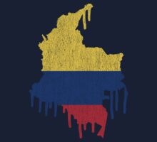 Colombia Paint Drip Kids Clothes