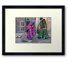 Laughing Sweepers Framed Print