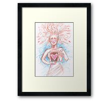 With open heart. Framed Print