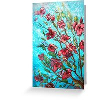 Cherry Blossom Flowers  Greeting Card