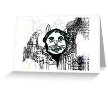 T.H. E. Anthropomorphic Cat Greeting Card