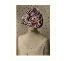 Water Woman, embroidered photo Art Print