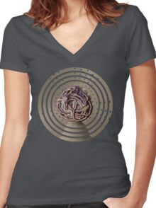 Water Woman, embroidered photo Women's Fitted V-Neck T-Shirt