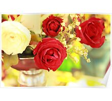 Roses on a Pedestal Poster