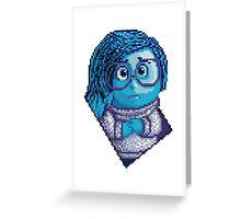 Sadness - pixel art Greeting Card