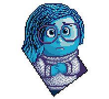 Sadness - pixel art Photographic Print