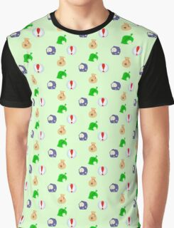 Animal Crossing Icons Graphic T-Shirt