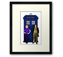 The 8th Doctor and Charley Framed Print
