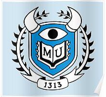 Monsters University Emblem Poster