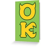 Monsters U: Oozma Kappa Greeting Card