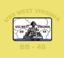 USS West Virginia (BB-48) Crest for Dark Colors Baby Tee