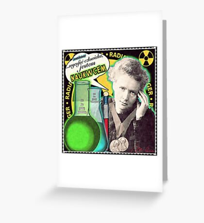 Popular Science: M. Curie (Polish) Greeting Card