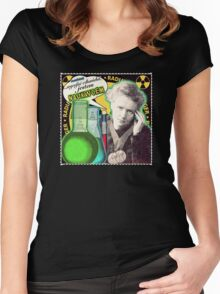 Popular Science: M. Curie (Polish) Women's Fitted Scoop T-Shirt