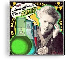 Popular Science: M. Curie (English) Canvas Print