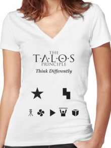 The Talos Principle  Women's Fitted V-Neck T-Shirt