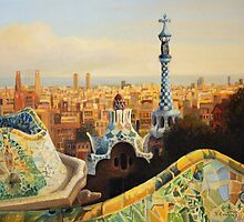 Barcelona Park Guell by kirilart