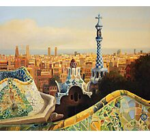 Barcelona Park Guell Photographic Print