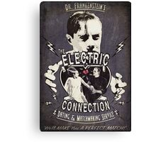 The Electric Connection (Old Metal Sign) Canvas Print