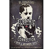 The Electric Connection (Old Metal Sign) Photographic Print