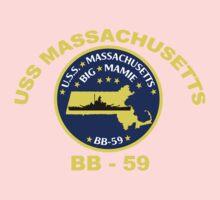 USS Massachusetts (BB-59) for Dark Backgrounds One Piece - Long Sleeve