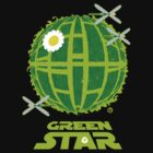 Green Star-TShirt by AlainB68