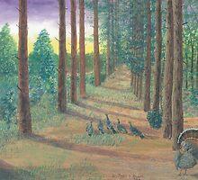 Turkeys on Bob's Trail by Lori Theim-Busch