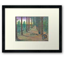 Turkeys on Bob's Trail Framed Print