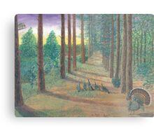 Turkeys on Bob's Trail Metal Print