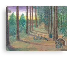 Turkeys on Bob's Trail Canvas Print