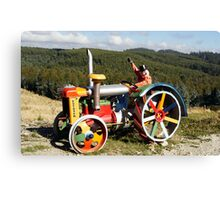 Coloured Tractor Canvas Print