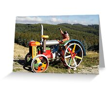 Coloured Tractor Greeting Card