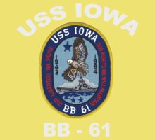 USS Iowa (BB-61) for Dark Colors Baby Tee