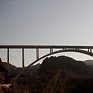Sun Set over The Hoover Dam Bridge USA. by Gabrielle  Hope