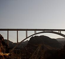 Sun Set over The Hoover Dam Bridge USA. by Gabrielle  Hope