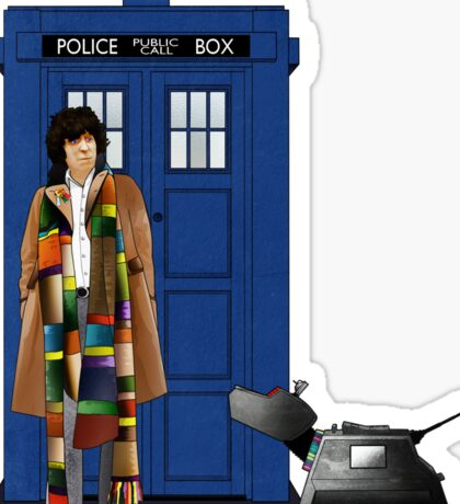The Doctor and K-9 Sticker