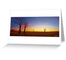 The Kimberley Plains Sunset Greeting Card