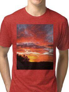 Colourful sunset Tri-blend T-Shirt